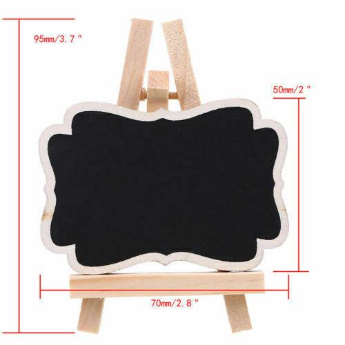 UK 1-20PCS Wooden Mini Blackboard Wedding Party Memo Sign Message Chalk Board