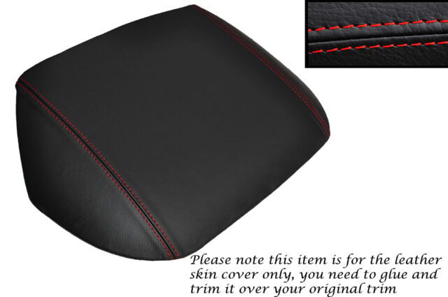 RED STITCH SPEEDO HOOD TRIM LEATHER SKIN COVER FITS TOYOTA MR2 MK1 AW11 84-90
