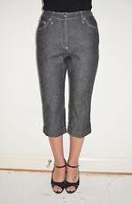 Vintage 90's Dolce & Gabbana Black Denim Capri Jeans Pants Euro 40 US 4 to 6