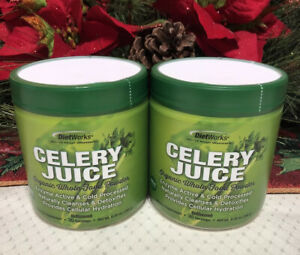2 Diet Works Celery Juice 30-Servings • Organic Whole Food Powder • Unflavored
