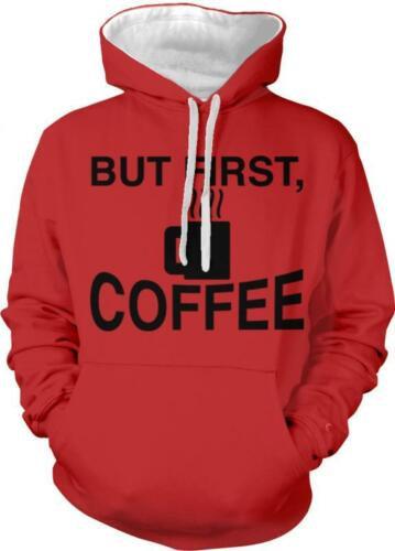 But First Coffee Caffeine Addict Monday Morning Person 2-tone Hoodie Pullover