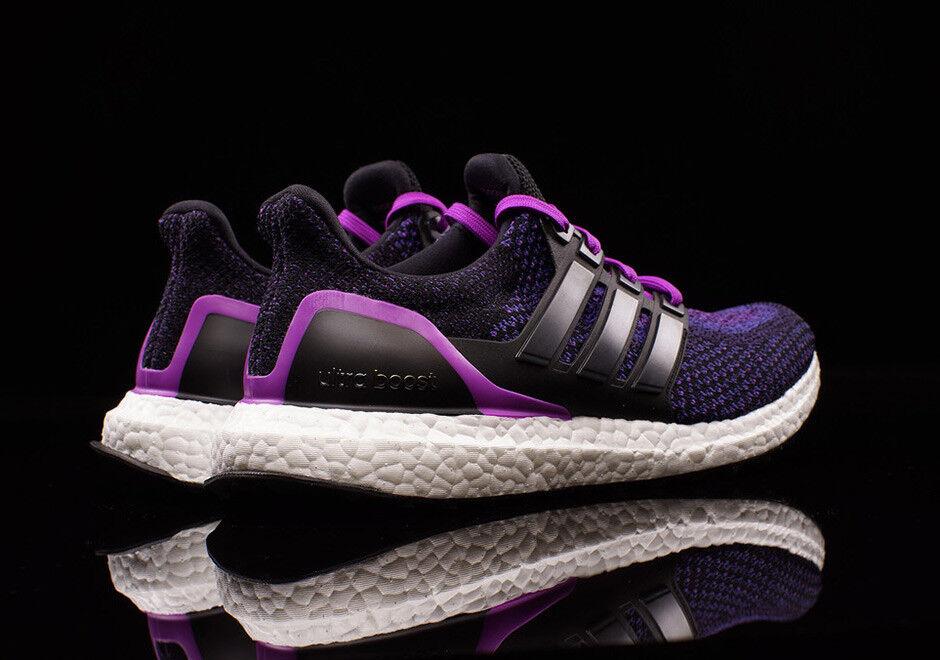 Adidas ULTRA BOOST  sz 9 9.5 10 10 10 Core Black  Core Black  Shock Purple AQ5935 76947a