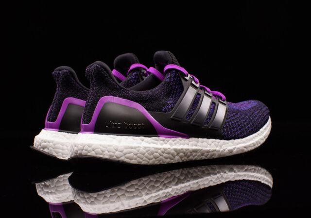 a6cf1b5ef79f adidas ULTRA BOOST sz 9 9.5 10 Core Black  Core Black  Shock Purple AQ5935