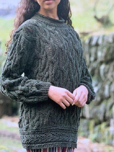 LS040 Tejer patrón suéter señoras de la túnica en hilado de chenilla tamaño 30-34 o 36-40