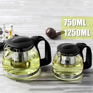750-1250ML-Glass-Heat-Resistant-Clear-Teapot-Infuser-Filter-Flower-Green-Tea-Pot