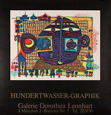 "HUNDERTWASSER ""Addio dall'Africa"", 1970 manifesto litografico originale"