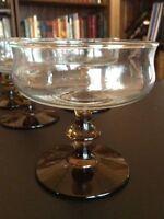 6 Vintage libbey tawny champagne sherbet rock sharpe glasses