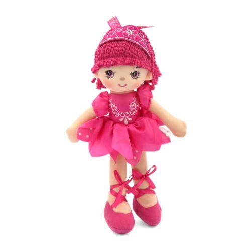 30cm Pink Ballerina Ballet Dance Princess Rag Doll Girls Kids Soft Toy Gift UK
