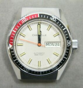Vintage-Bulova-Caravelle-Automatic-666-Devil-Divers-Watch-Free-Shipping
