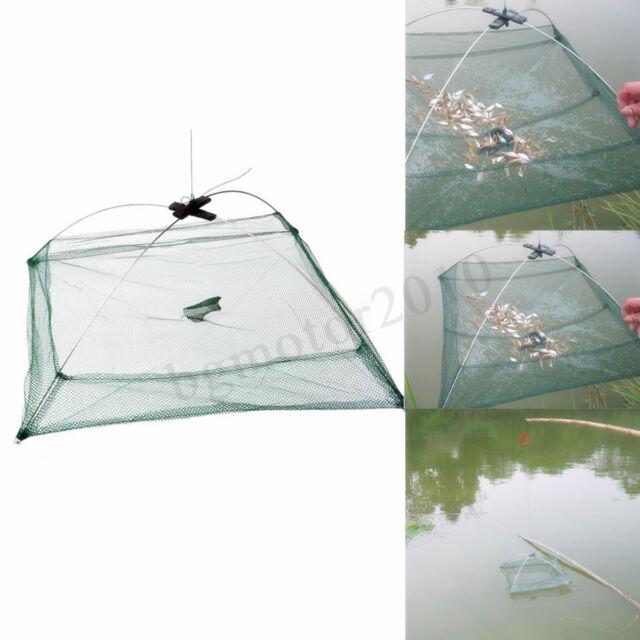 80cm Fishing Net Fish Shrimp Crab Baits Cast Net Mesh Trap Dip Catching Cage