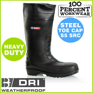Heavy-Duty-Waterproof-Work-Safety-Wellington-Boots-Wellies-Outdoor-Steel-Toe-Cap