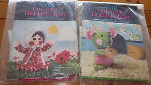 Vintage-Doll-Making-Craft-Kits-AVON-Creative-Needlecraft-Calico-Kate-House-Mouse