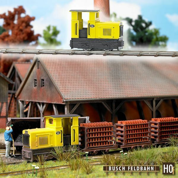 Busch 12110-h0f-campo ferroCocheril-diesellok gmeinder 15 18  2408 1938 ep2 amarillo