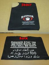 Blackwater Templar Crusade T-shirt Tan, Blk, Navy, Grey GRAY Academi