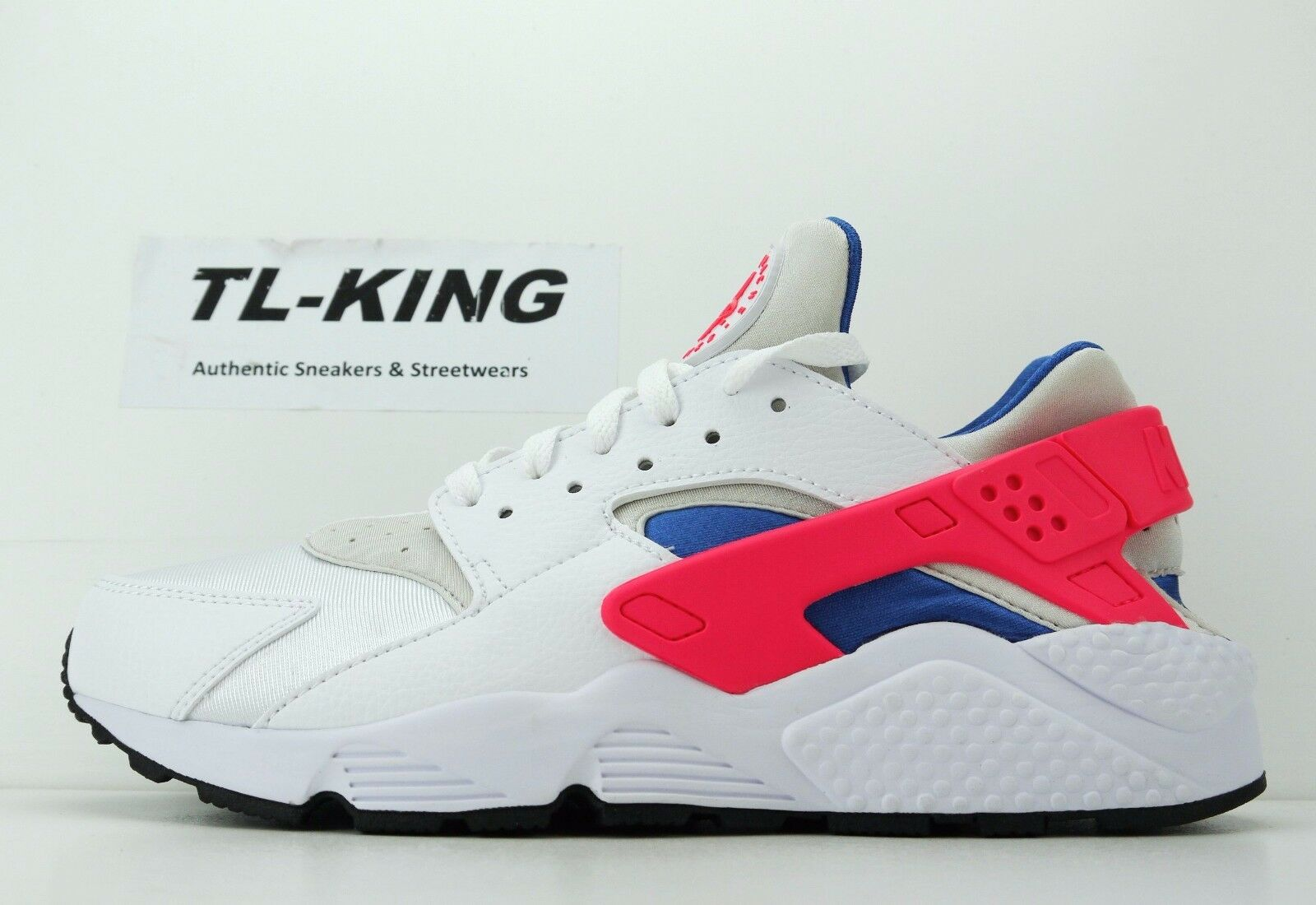 Nike Air Huarache Run White Ultramarine Solar Red Black 318429-112 Msrp  110 CL