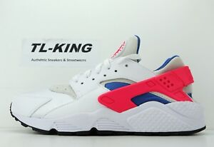2286d0db4cd Nike Air Huarache Run White Ultramarine Solar Red Black 318429-112 ...