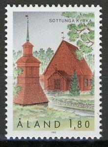 Sottunga Church Vf Mnh Åland 1993 Nice Aland Mi 78 1,80m Architecture