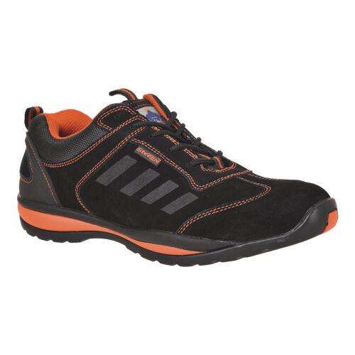 Baskets De Sécurité Homme//Femme Travail Bottes Chaussures Noir//Orange Taille Portwest FW34