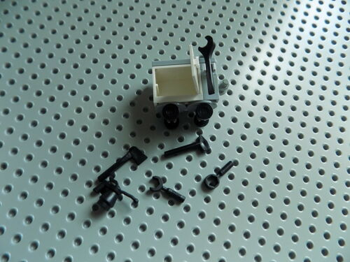 Lego Minifigure Accessory Tool Hand//Push Cart on Wheels with 7 Tools