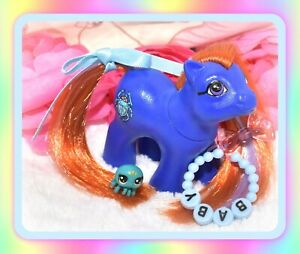 My-Little-Pony-MLP-G1-Vtg-Baby-EGYPTIAN-Scarab-Beetle-OOAK-Custom-Pony