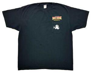 Vintage Iron Horse Saloon 2006 Pocket Tee Black Size XXL Mens T-Shirt
