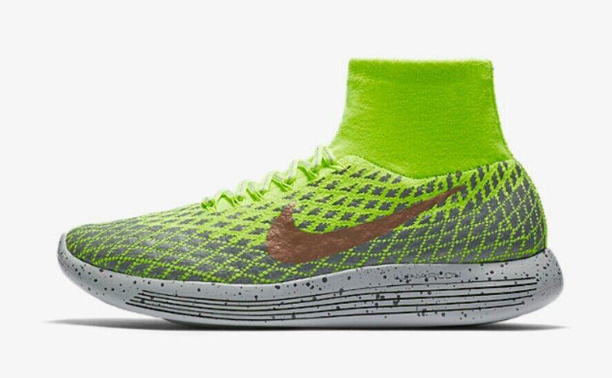Nike Lunarepic Flyknit Shield 849664-700 Men's US 10 Volt Grey NEW 200