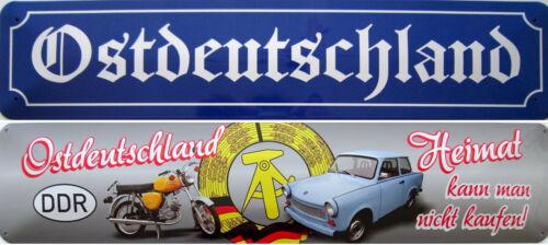 Ostdeutschland Heimat nicht kaufen Simson S50 Trabant osten Blechschild Schild