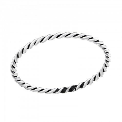 925 Sterling Silver Rope 1mm Midi Thumb Ring