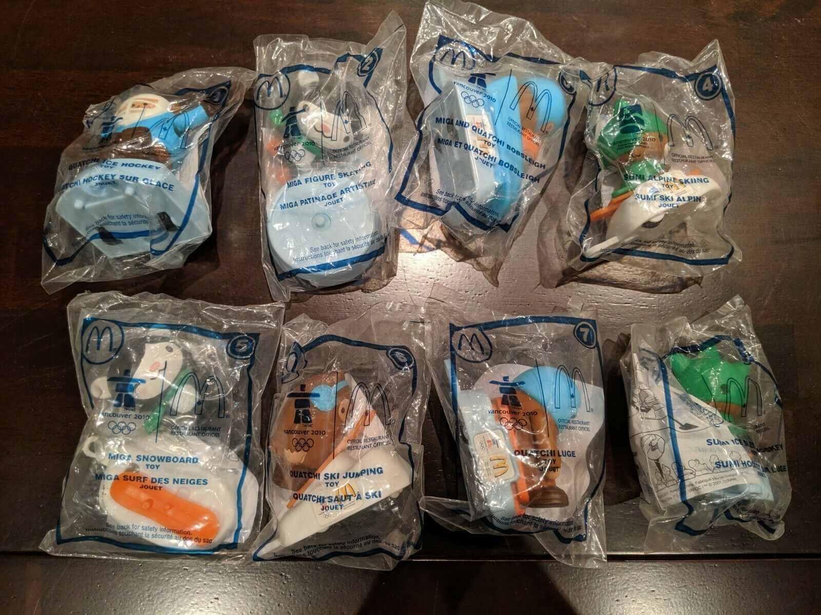 Mcdonalds Toys Vancouver 2010 Winter Olympics Set of 8 Sealed