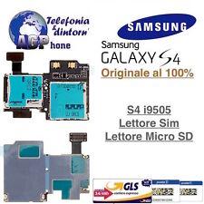 Lettore Scheda SIM e Micro SD Card per Samsung Galaxy S4 i9505 LTE SIV Originale