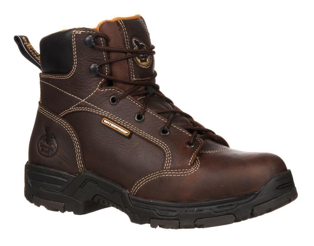Georgia GB00043 Trax Mens Steel Toe Puncture-Resistant Waterproof Work Boots