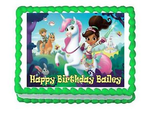 Nella The Princess Knight Edible Cake Image Topper