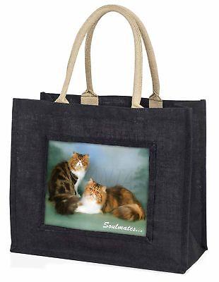 Persisch Katzen  Soulmates  Stimmung große schwarze Einkaufstasche