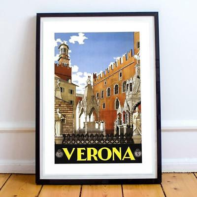 22x34 Inch Travel Poster Italy Verona 058 To Be Renowned Both At Home And Abroad For Exquisite Workmanship Skillful Knitting And Elegant Design Art Prints