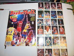 1990-91-PANINI-BASKETBALL-COMPLETE-STICKER-SET-180-ALBUM-BIRD-3-JORDAN-PIPPEN