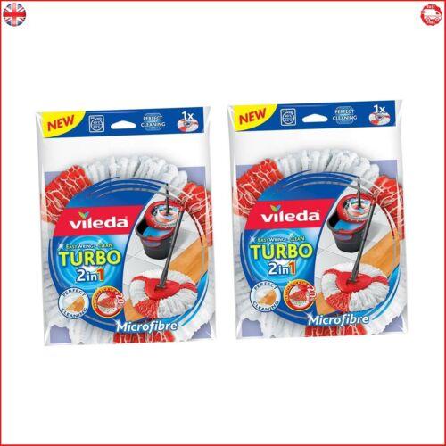 Vileda Easy Wring and Clean Turbo 2 in 1 SCOPA IN MICROFIBRA RICARICA Head Confezione da 2