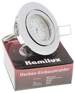 LED Einbaustrahler Einbau-Leuchten Lampe ultra-flach Decken-Spots BAJO 5W 230V