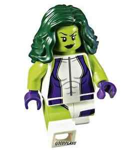 Lego Marvel Super Heroes Green She Hulk Girl Minifigure New From Set
