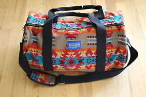 Pendleton Mini Broken Diamond Duffel Bag Aztec Wool SOLD OUT MSRP ... 7177347a8e036