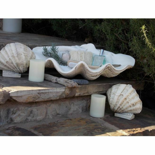 Decorative Bowls, Large Clam Shell Classic-Design Home Decor Gypsum Weiß Bowls
