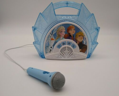 Disney Frozen 2 Sing-Along Boombox Built In Music Real Mic Works and Tested