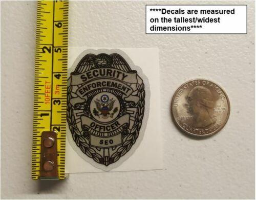 Security Enforcement Officer Vinyl Decal Sticker Security Officer Guard Badge