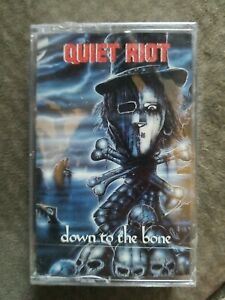 QUIET RIOT Down To The Bone Cassette Glam Hair Metal