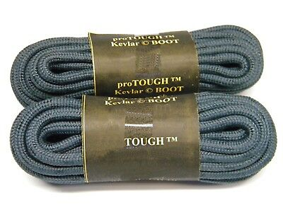 2 Pair Pack Round Athletic Laces for Boots And Shoes BLACK