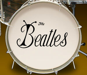 The-Beatles-039-Bug-039-Logo-Repro-Adhesive-Decal-Set-for-Bass-Drum-Reso-Head