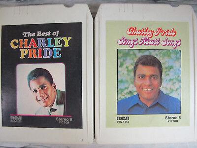 2 Charley Pride 8 Track Tapes Best Of Music Sings Heart Songs