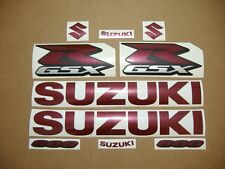 GSXR 600 burgundy decals stickers graphics kit set adhesives wine red 2001 2004
