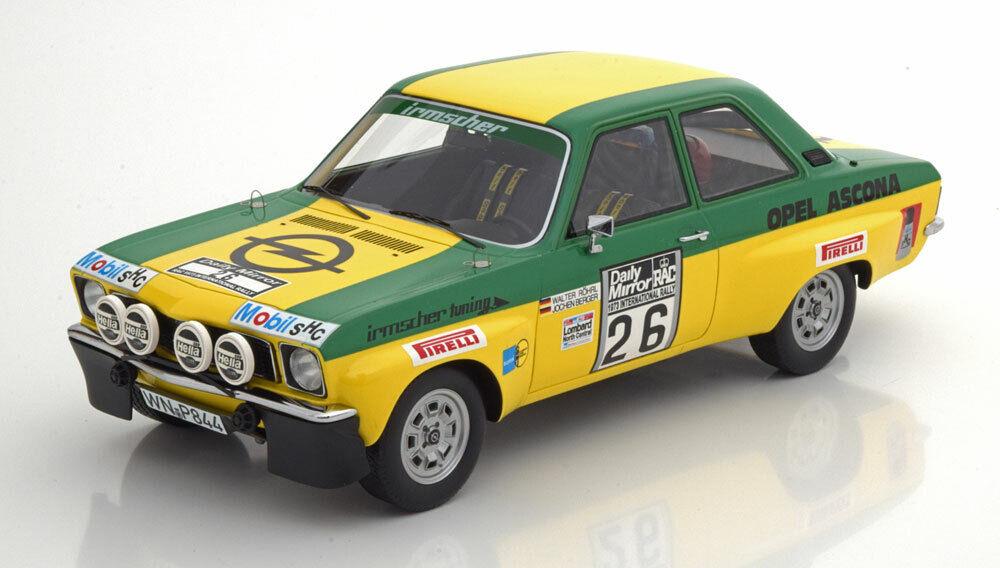 Opel Ascona A Ret. RAC Rally 1973 W. Rohrl J. Berger 1 18 Model BOS Model
