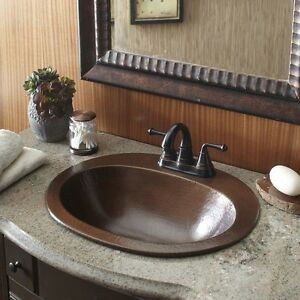 oval bathroom sinks drop in copper bathroom sink bath vanity hammered finish oval bowl 23895