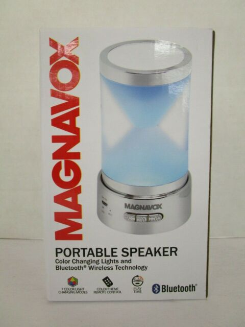Magnavox MMA3683N Bluetooth Wireless Portable Speaker with Changing Lights